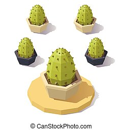 Vector low poly cactus