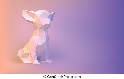 Vector Low-poly dog