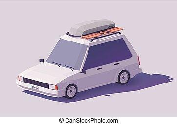 Vector low poly estate car