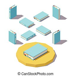Vector low poly Isometric book