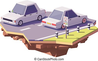 Vector low poly low-emission zone illustration