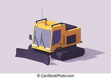 Vector low poly snowcat