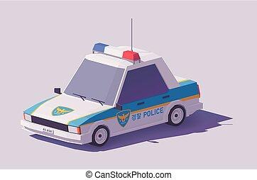Vector low poly South Korean car