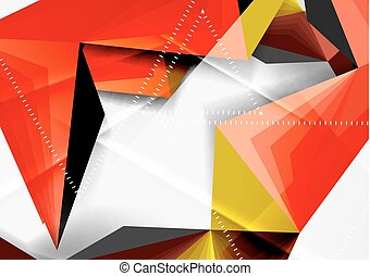 Vector low poly style 3d triangle line, a4 business or...