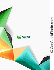 Vector low poly style 3d triangle line