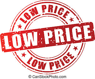 Vector low price stamp - Vector illustration of low price...