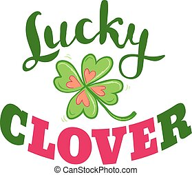 Luck and love poster with clover