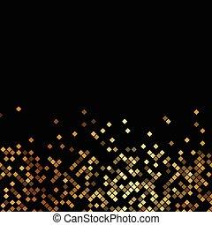 vector, luxe, zwarte achtergrond, met, goud, sparklers