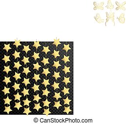 Vector luxury black background with gold stars. Vector illustration