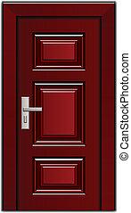 vector luxury mahogany wooden entrance door