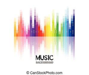 vector, música, diseño