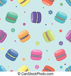 vector macaron seamless pattern