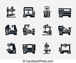 Vector machine tool icons set