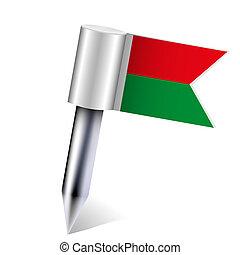 Vector Madagascar flag isolated on white. Eps10