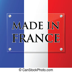 Vector made in france sign - Vector illustration of ...