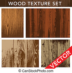 vector, madera, conjunto, textura