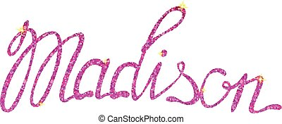 Madison name lettering tinsels - Vector Madison name ...