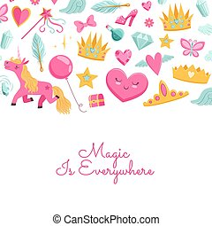 Vector magic and fairytale elements