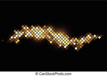 Vector magic background with gold sparkles