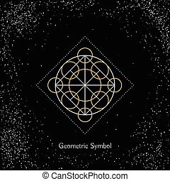 Vector Magic Geometry Sign - Luxury geometry sign. Vector ...