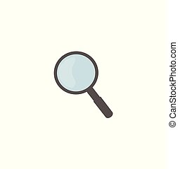 Vector magnifier icon - button for web site searching...