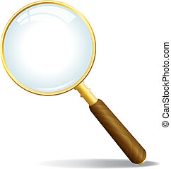 Vector Magnifying Glass - A gold colored magnifying glass...
