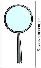 Vector magnifying glass flat icon. Vector Flat illustration of Magnifier for web design, logo, icon, app, UI