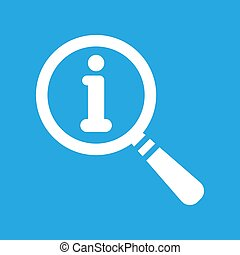 vector magnifying glass with flat info icon on a blue background