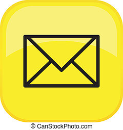 Vector Mail Button - mail vector glossy icons - e-mail ...