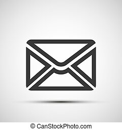 Vector mail envelope