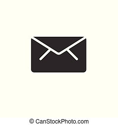 Vector mail icon isolated on white background. envelope symbol
