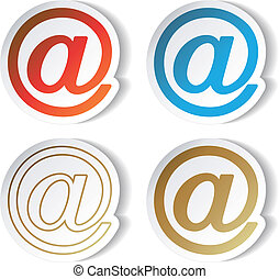 Vector mail stickers