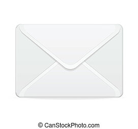 Vector mail template white