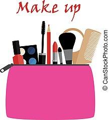 make up bag - vector make up bag