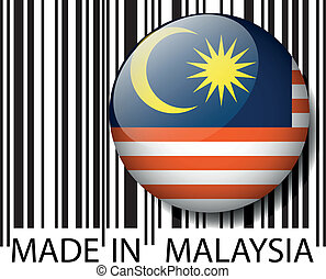vector, malasia, barcode., hecho, ilustración