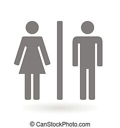 Male and Female gender icon symbol