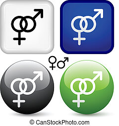 vector male female buttons