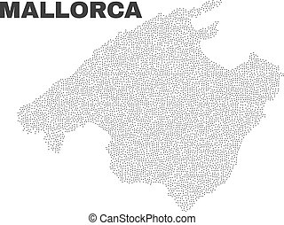Vector Mallorca Map of Points - Mallorca map designed with...