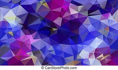 vector, malva, plano de fondo, triángulo, -, violeta, polígono, cobalto, real, patrón, resumen, puprle, poly, color, bajo, irregular, azul, azur