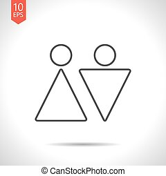 Vector man and woman icon