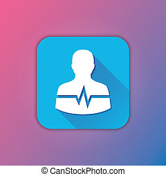 Vector Man Cardiogram Icon