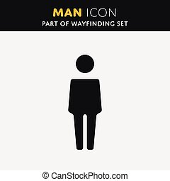 Vector Man icon.