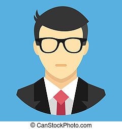 Vector Man in Business Suit Icon