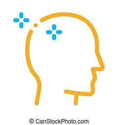 vector, man, pictogram, illustratie, schets, baldheaded