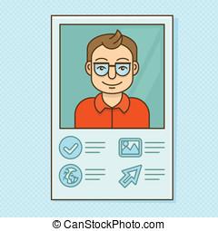 Vector man profile