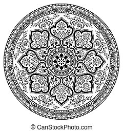 Vector - Mandala design on white background
