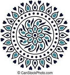Vector mandala design on white background