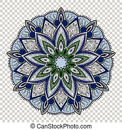 Vector mandala on transparent background