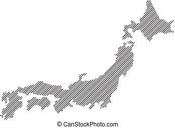 vector map Japan