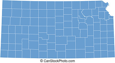 Vector map Kansas